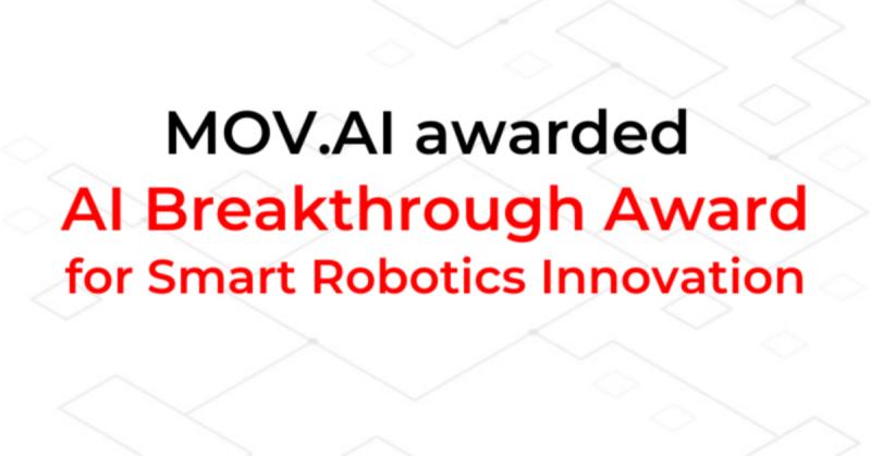 MOV.AI awarded AI Breakthrough Award for Smart Robotic Innovation